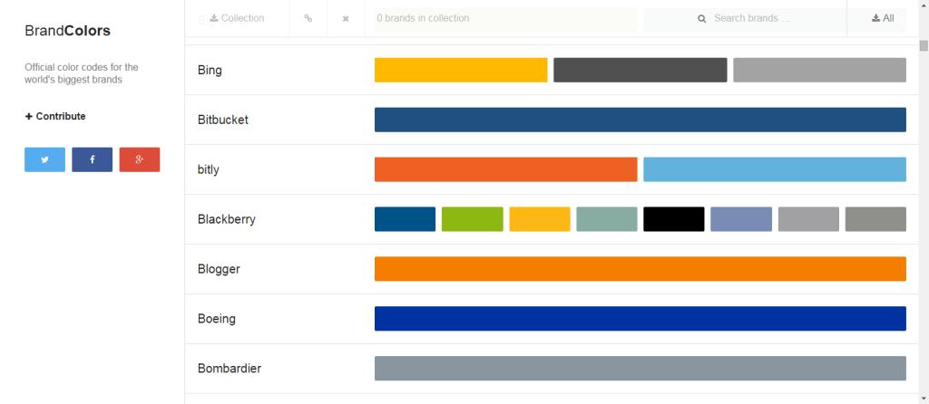 brandcolors.net Screenshot